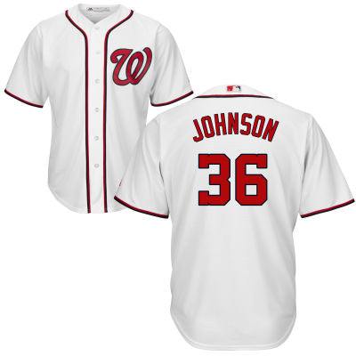 Men's Washington Nationals Presidential Series Lyndon Johnson Home Majestic Cool Base Jersey