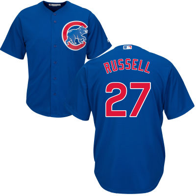 Men's Chicago Cubs Addison Russell Majestic Blue Alternate Cool Base Player Jersey