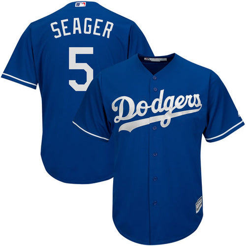 Men's Los Angeles Dodgers Corey Seager Alternate Majestic Cool Base Jersey