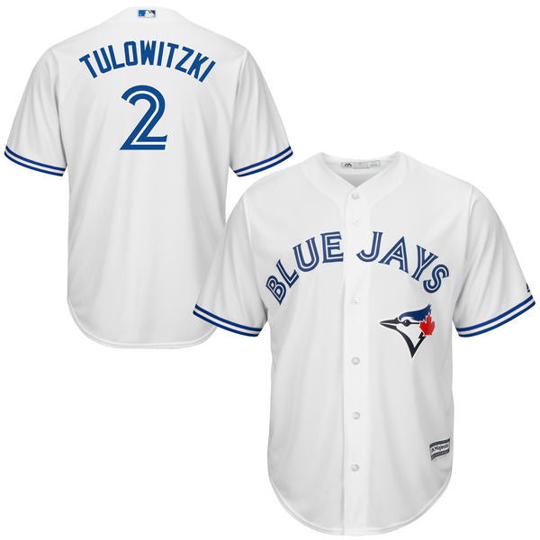 Men's Toronto Blue Jays Troy Tulowitzki Majestic Home Cool Base Jersey