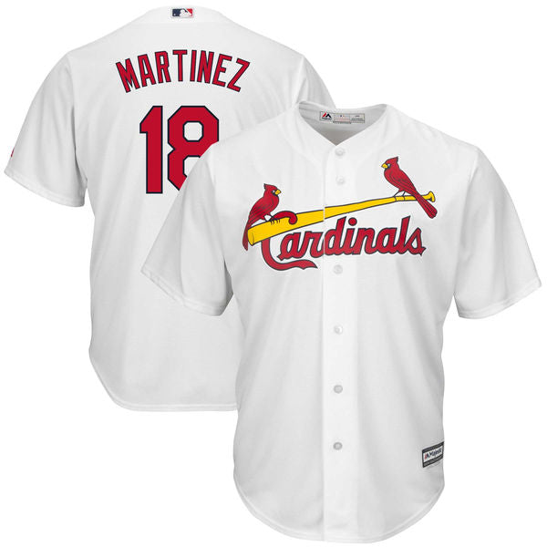 Men's St. Louis Cardinals Carlos Martinez Home Majestic Cool Base Jersey