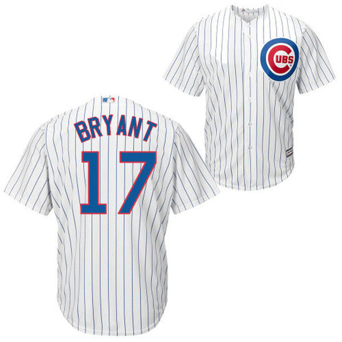 Men's Chicago Cubs Kris Bryant Majestic Home White Cool Base Player Jersey