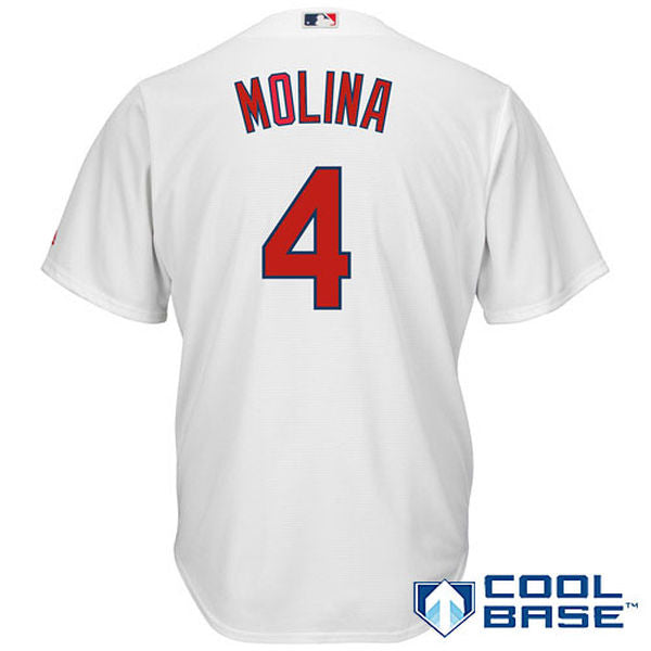 Men's St. Louis Cardinals Yadier Molina Home Majestic Cool Base Jersey