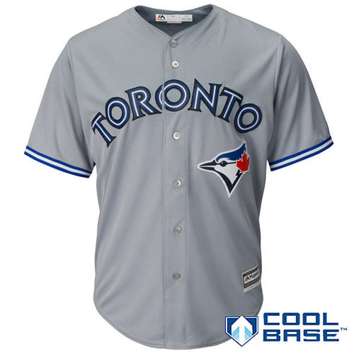 Men's Toronto Blue Jays Marcus Stroman Majestic Road Gray Cool Base Jersey