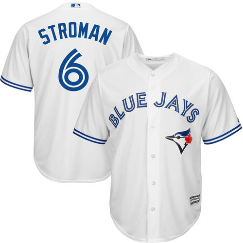 Men's Toronto Blue Jays Marcus Stroman Majestic Home Cool Base Jersey