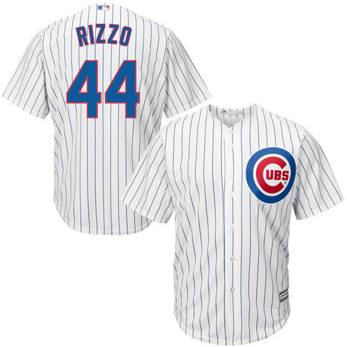 Men's Chicago Cubs Anthony Rizzo Majestic Home White Cool Base Player Jersey
