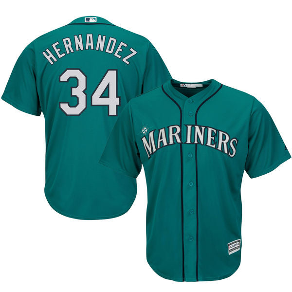 Men's Seattle Mariners Felix Hernandez Alternate Majestic Cool Base Jersey