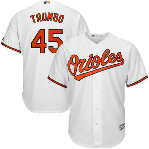 Men's Baltimore Orioles Mark Trumbo Majestic Home Cool Base Jersey