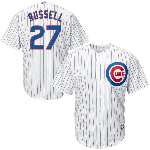 Men's Chicago Cubs Addison Russell Majestic Home White Cool Base Player Jersey