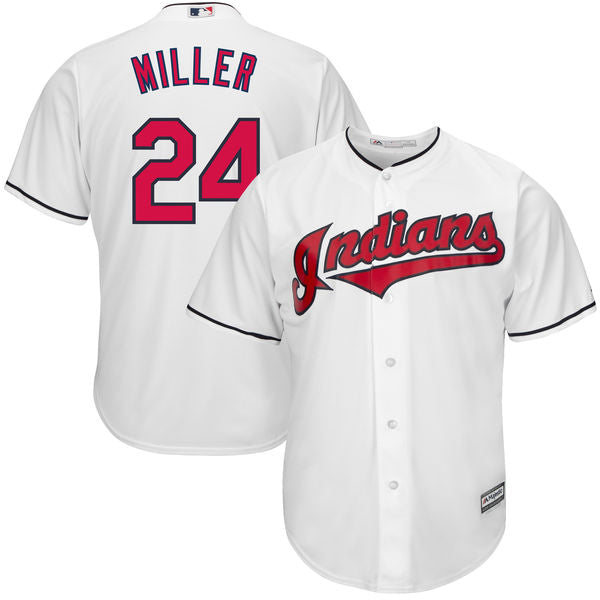 Men's Cleveland Indians Andrew Miller Home Majestic Cool Base Jersey