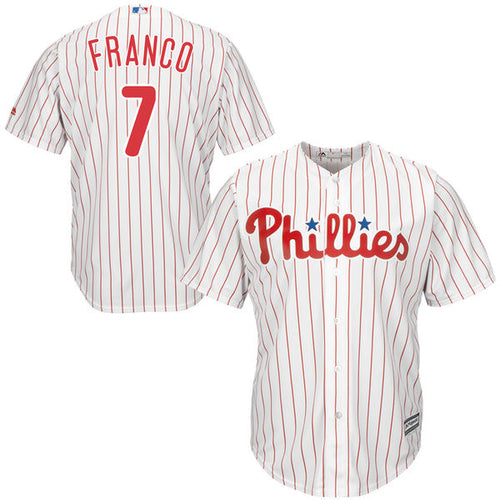 Men's Philadelphia Phillies Maikel Franco Home Majestic Cool Base Jersey