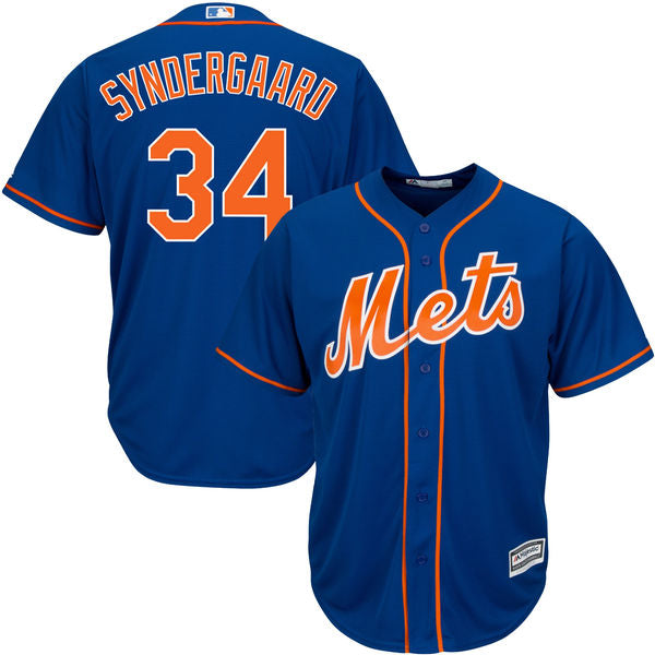 Men's New York Mets Noah Syndergaard Majestic Alternate Blue Cool Base Jersey