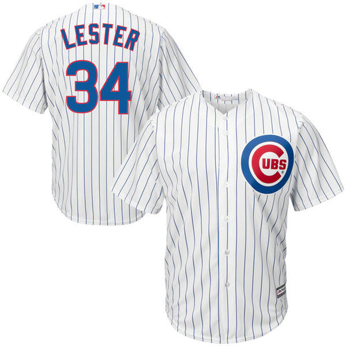 Men's Chicago Cubs Jon Lester Majestic Home White Cool Base Player Jersey