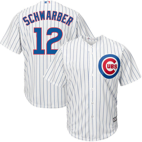 Men's Chicago Cubs Kyle Schwarber Majestic Home White Cool Base Player Jersey