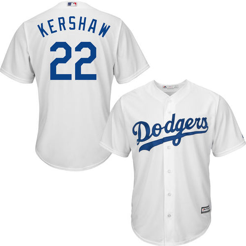 Men's Los Angeles Dodgers Clayton Kershaw Home Majestic Cool Base Jersey