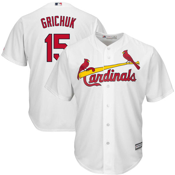 Men's St. Louis Cardinals Randal Grichuk Home Majestic Cool Base Jersey