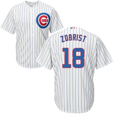 Men's Chicago Cubs Ben Zobrist Majestic Home White Cool Base Player Jersey