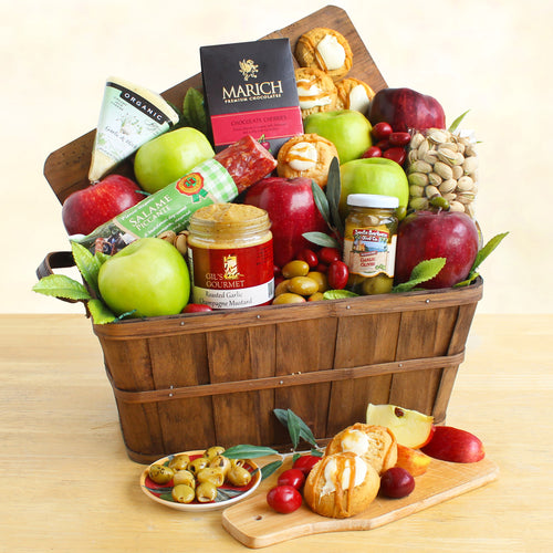 Bountiful Fruit and Cheese Basket