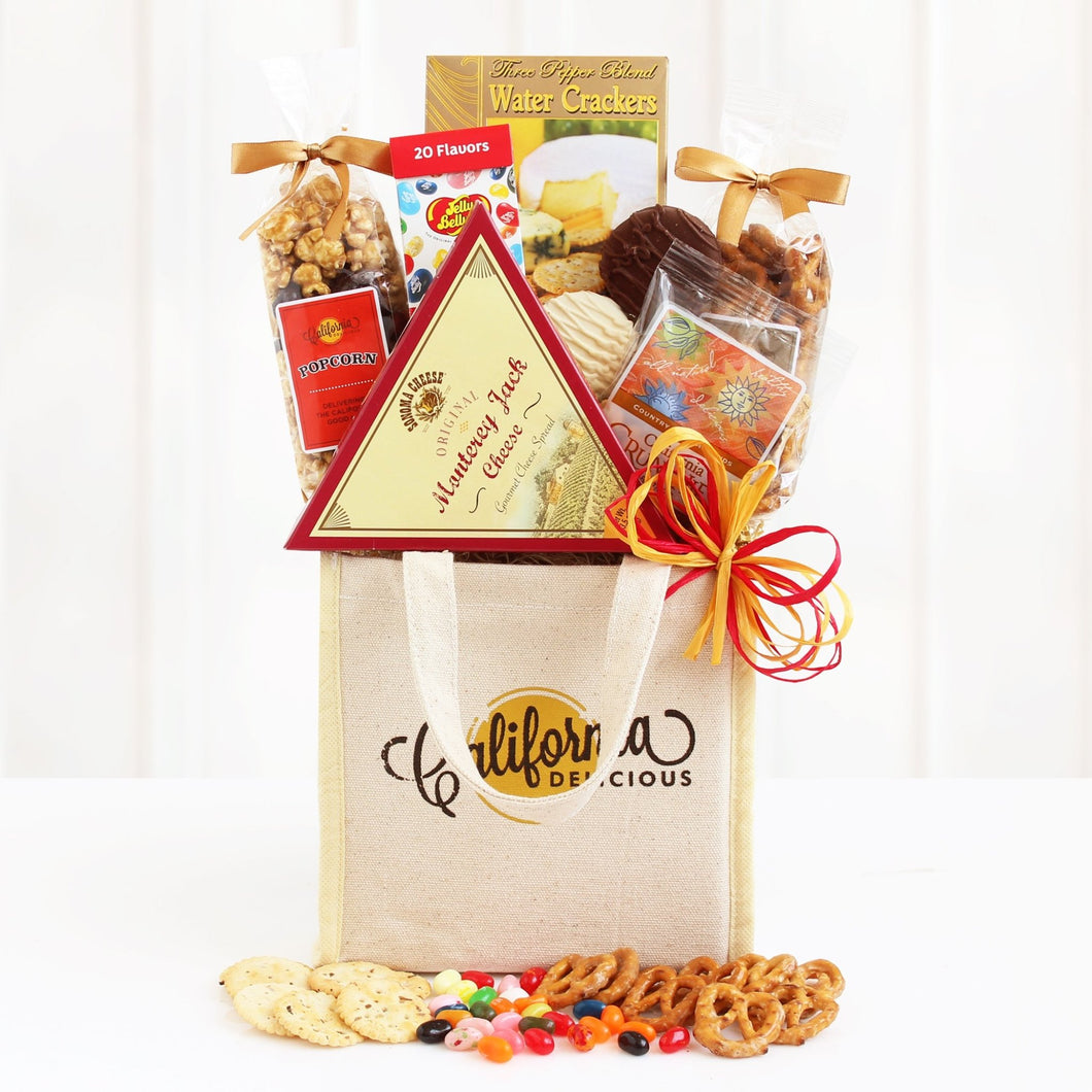 California Delicious Gourmet Tote - Vogue Gift Baskets
