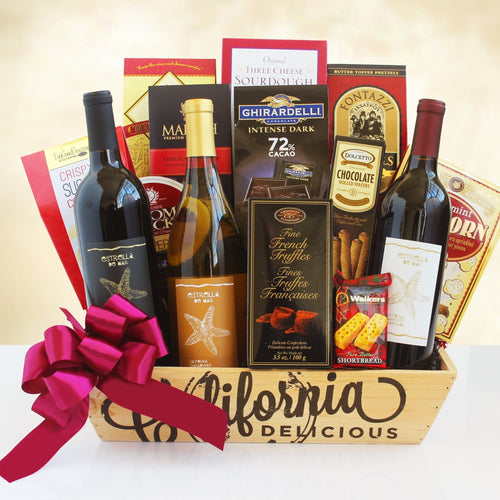 California Delicious Trio - Vogue Gift Baskets
