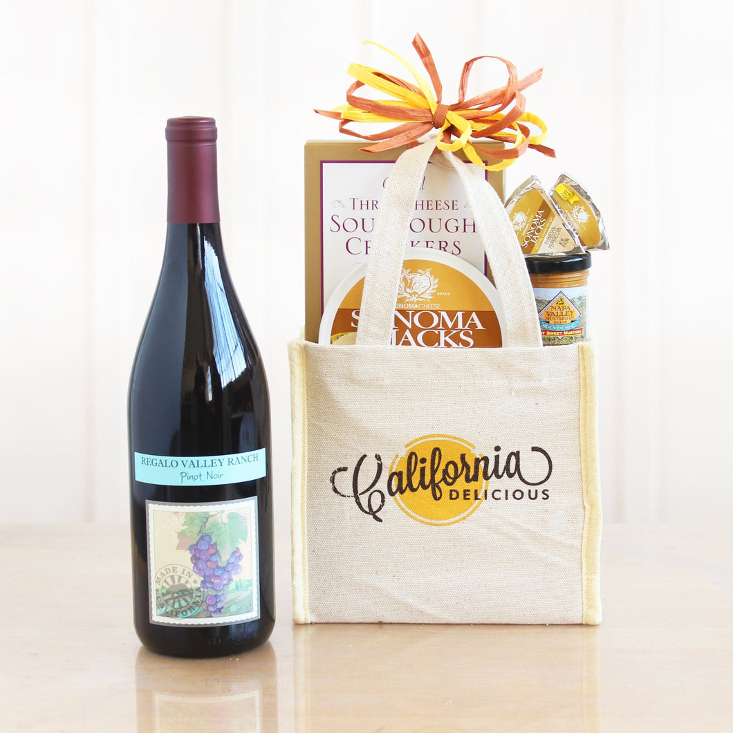 California Red Wine Tote - Vogue Gift Baskets