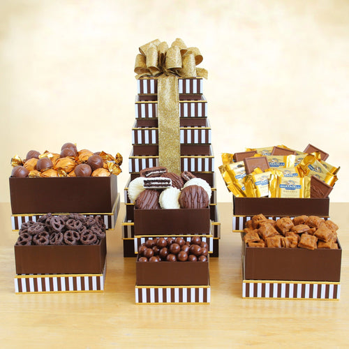 Chocolate Dream Tower - Vogue Gift Baskets