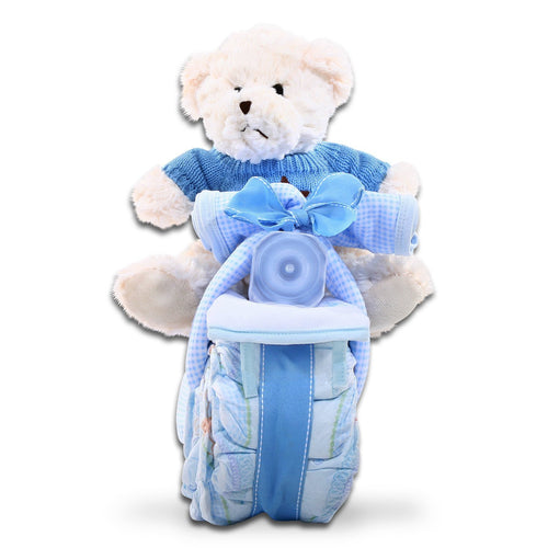Diaper Motorcycle - Blue - Vogue Gift Baskets