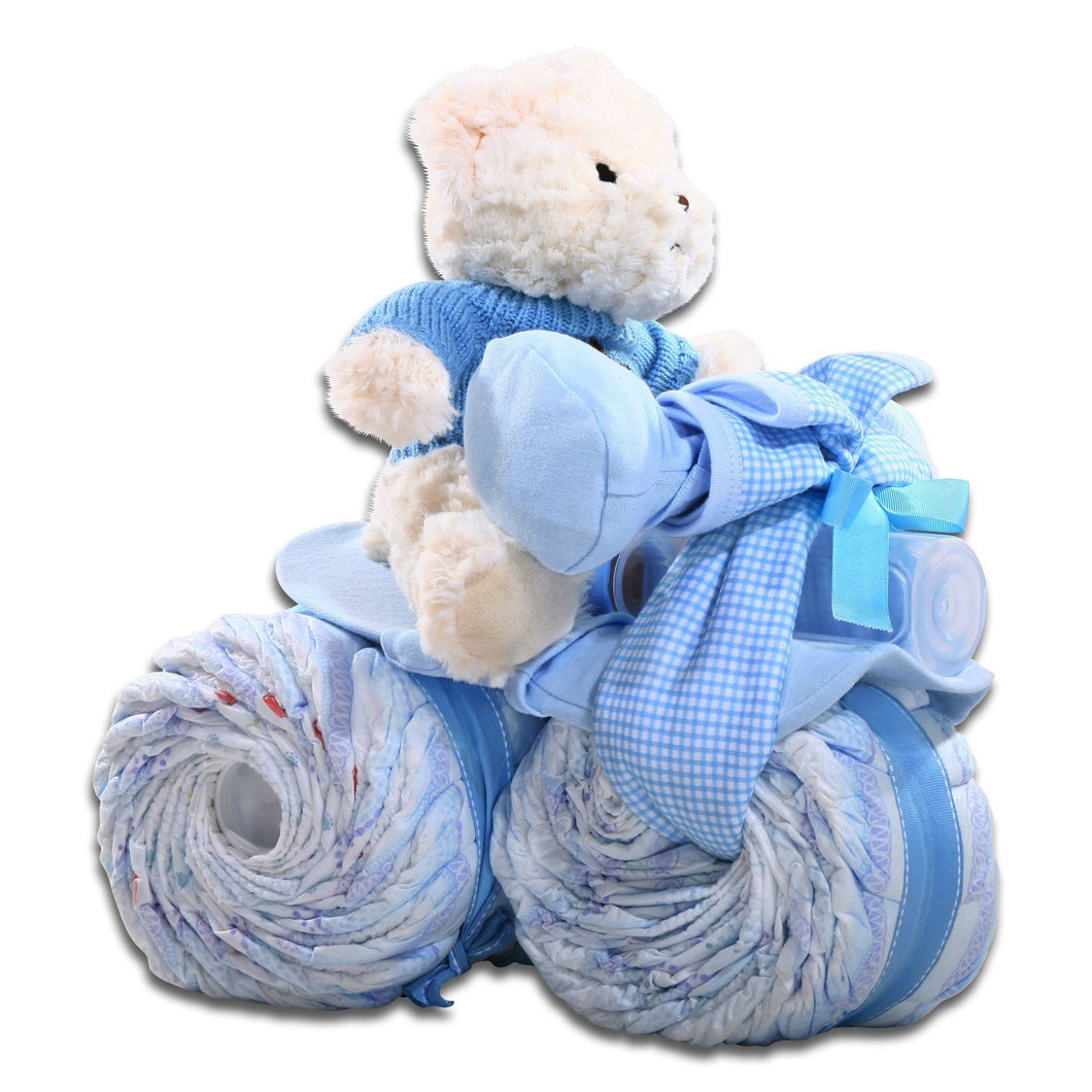 Diaper Tricycle - Blue - Vogue Gift Baskets