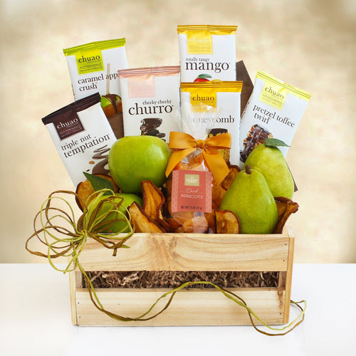 Fruit and Chocolate Crate - Vogue Gift Baskets