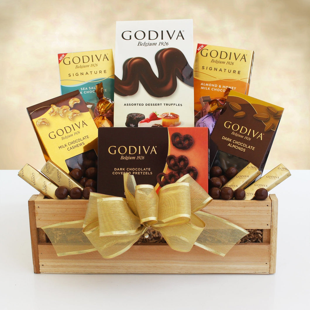 Godiva Sampler Crate - Vogue Gift Baskets