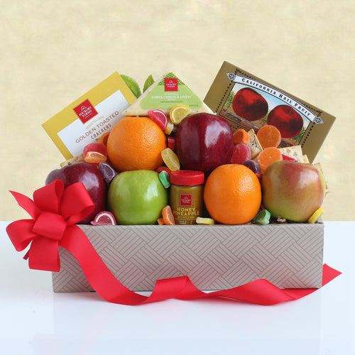 Golden State Fruit and Cheese Box - Vogue Gift Baskets