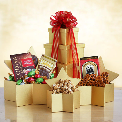 Holiday Star Tower - Vogue Gift Baskets