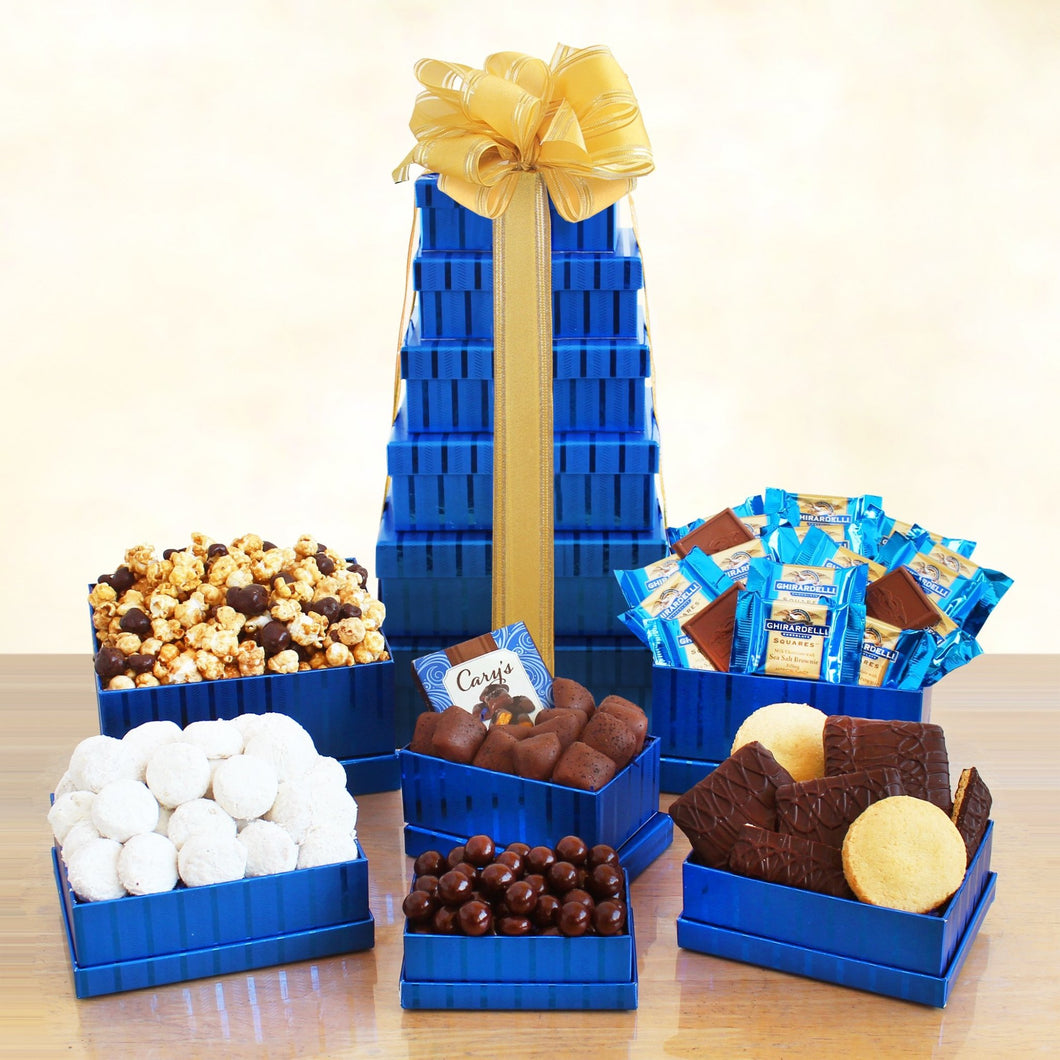 Kosher Sweets Tower - Vogue Gift Baskets