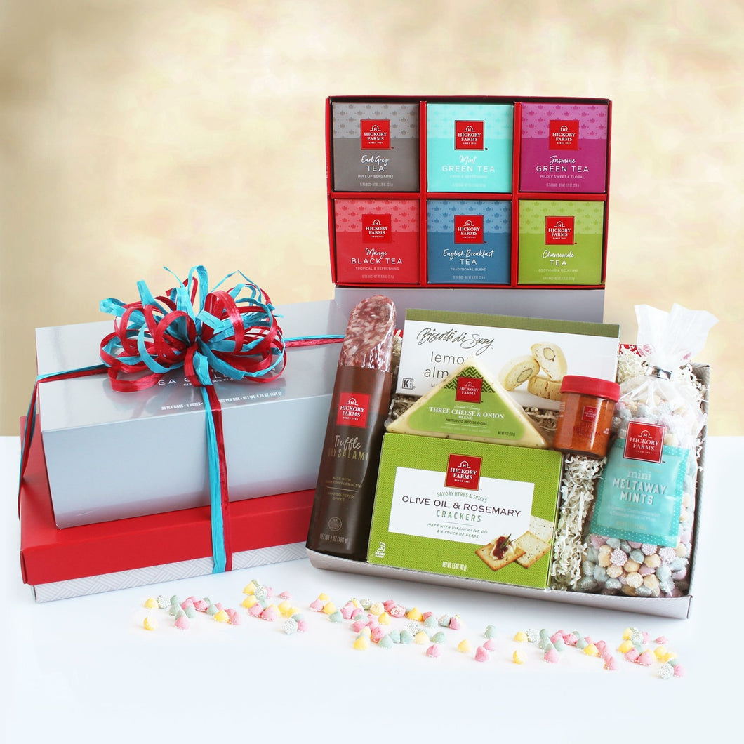 Mom's Tea and Treats Tower - Vogue Gift Baskets