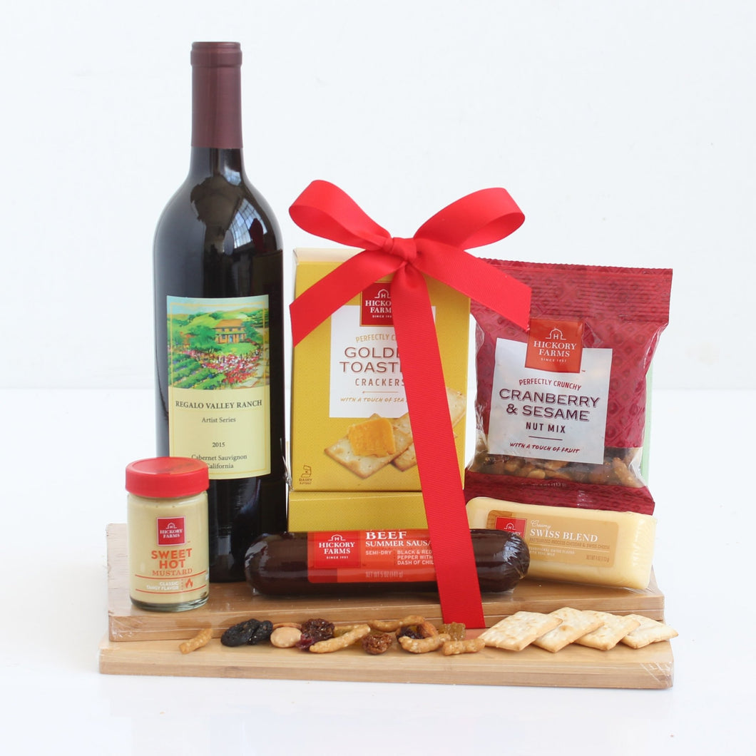 Napa Valley Wine and Cheese - Vogue Gift Baskets