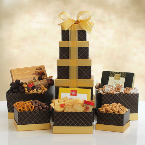 Premium Snack Tower - Vogue Gift Baskets