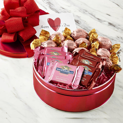 Valentine's Day Tin of Treats - Vogue Gift Baskets