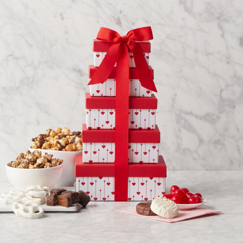Valentine's Gourmet Tower - Vogue Gift Baskets