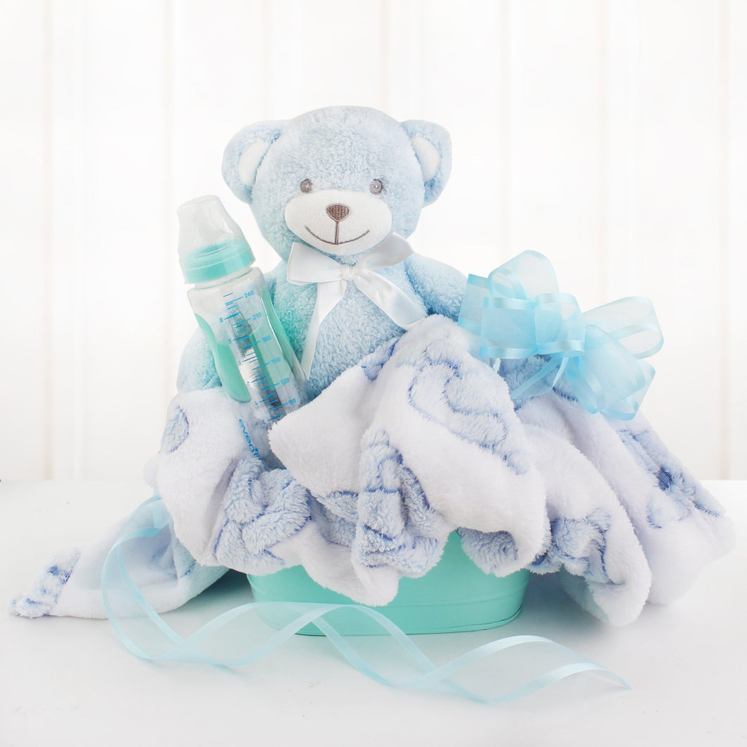 Welcome Baby Boy - Vogue Gift Baskets