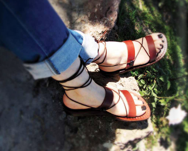 Simply Straps Genuine Leather Sandals
