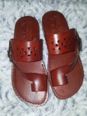 Leather sandals for him