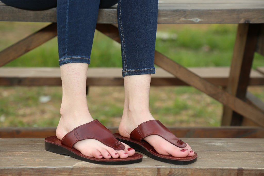 Gladiator leather flipflops