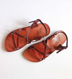 low heels Genuine Leather Sandals for women