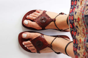 Gladiator Genuine Leather Sandals for women .