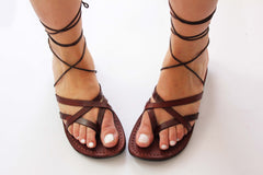 Gladiator Straps   Leather Sandals for women