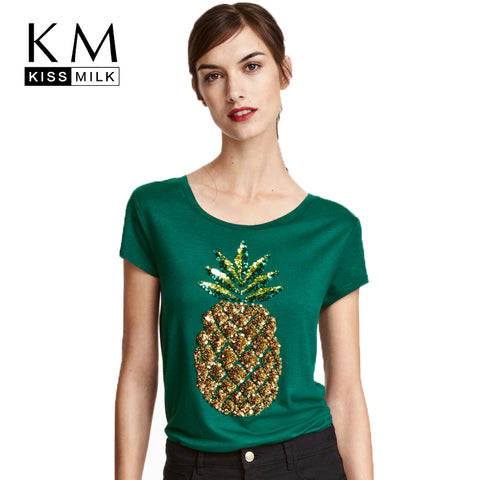 plus size women pineapple t shirt