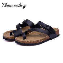 Soft Cork Slides Sandals Slippers Women  ring toe
