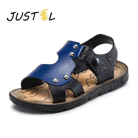 Summer children 's fashion sandals boys beach shoes buckle baby sandals outdoor kids non - slip flat shoes size23-35