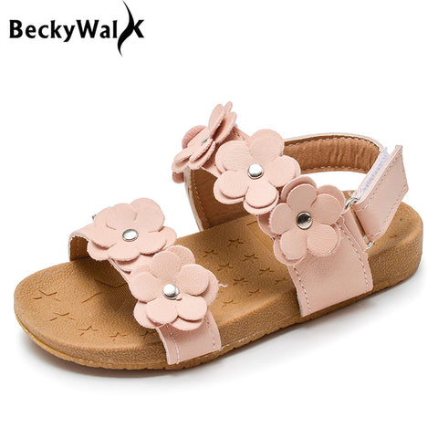GIRLS BEACH FLOWES SUMMER SHOES