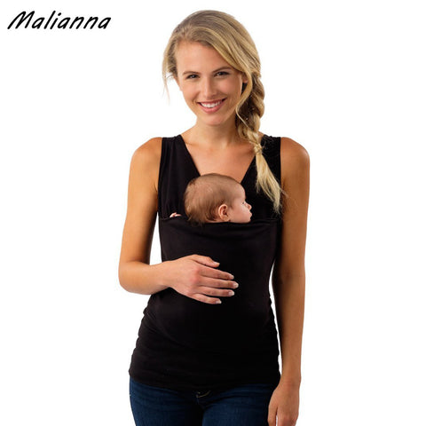 sleevless big pocket  kangaroo clothes baby carrier for mother